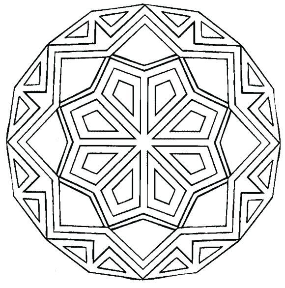 580x586 Simple Mandalas To Print And Color Mandala Coloring Pages Kids