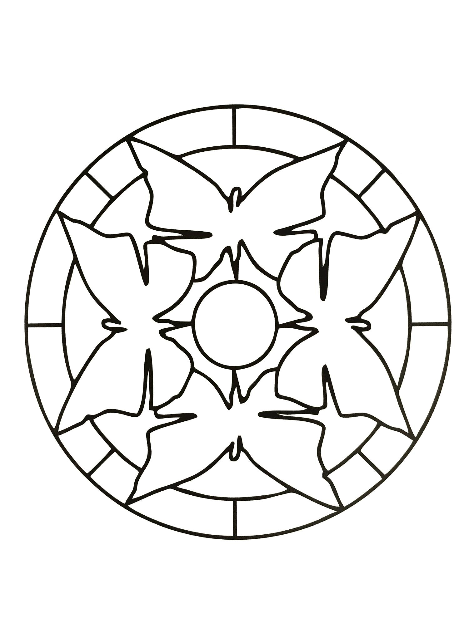 1517x1996 Simple Mandala