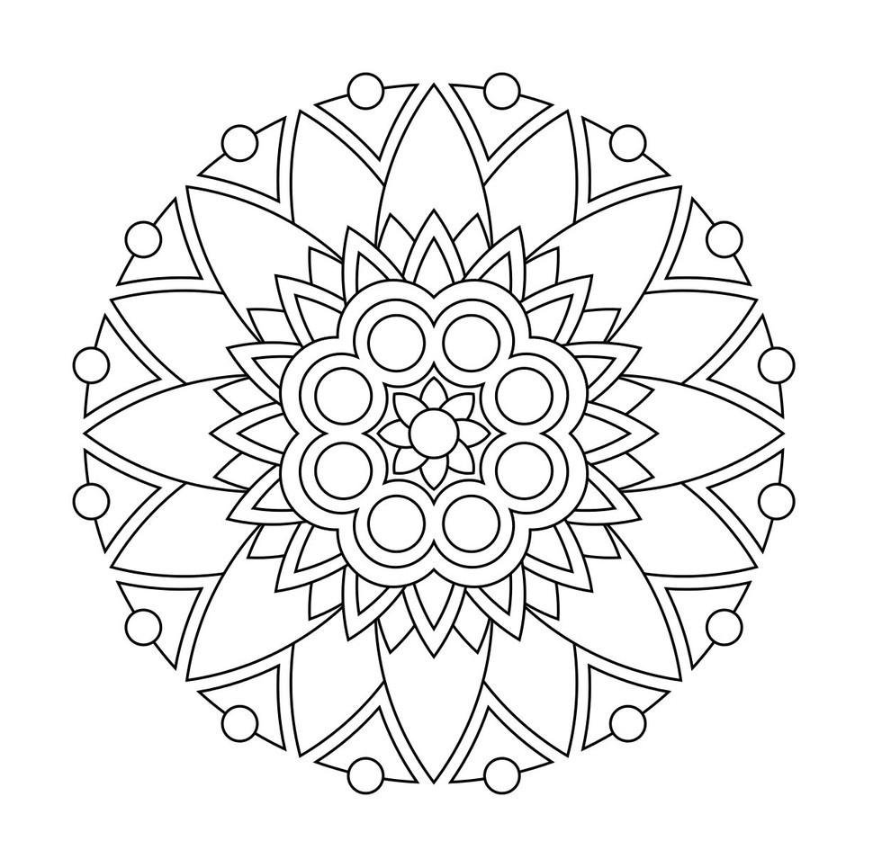 Simple Mandala Coloring Pages For Kids at GetDrawings ...