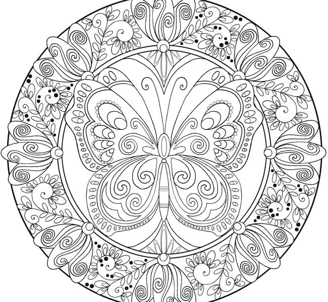 650x600 Difficult Mandala Coloring Pages X Hard Mandala Coloring Pages