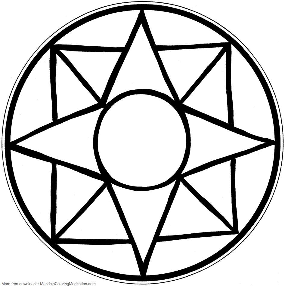 947x951 Easy Mandala Coloring Pages Photos Mosaic Table Top Design