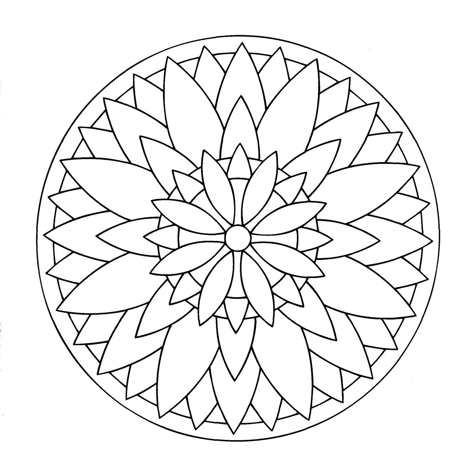 1600x1600 Easy Mandala Coloring Pages Printable Collection