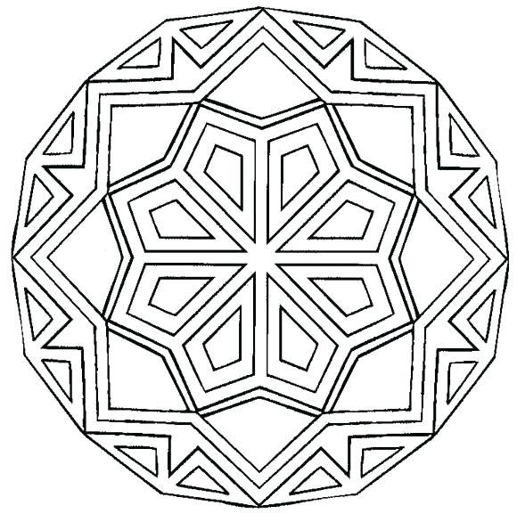 580x586 Good Coloring Pages Simple Mandalas To Print And Color Mandala
