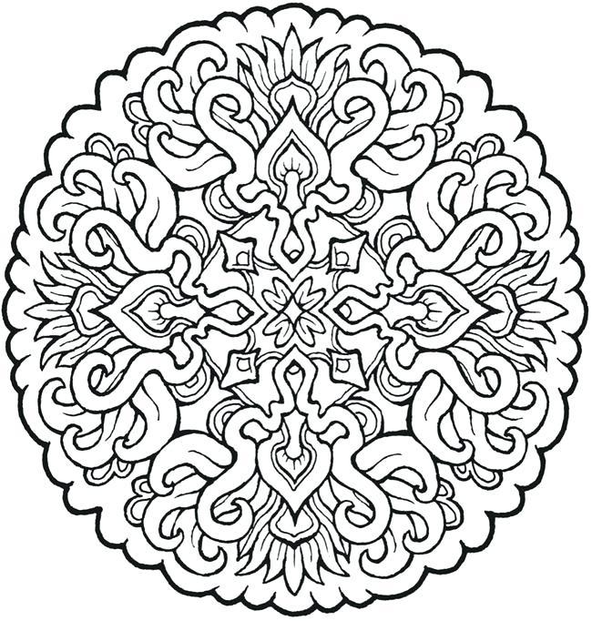 650x682 Love Mandala Coloring Pages Many Interesting Simple Mandala Flower