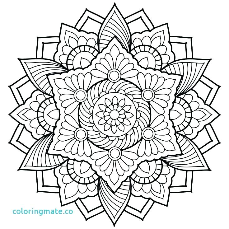 736x736 Mandela Coloring Pages Mandala Printable Coloring Pages Free