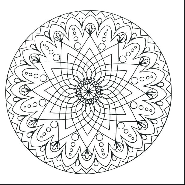 618x618 Printable Mandala Coloring Pages For Adults Stunning Simple