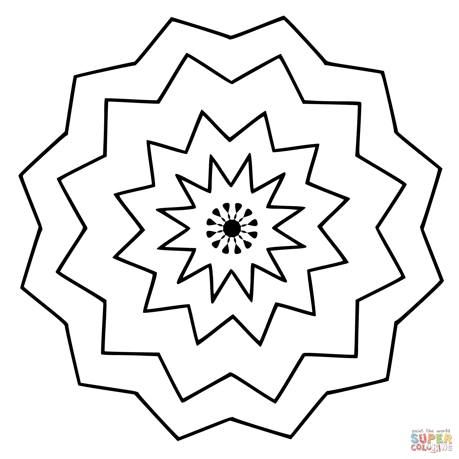 1600x1601 Printable Spectacular Flower Mandala Coloring Pages With Easy