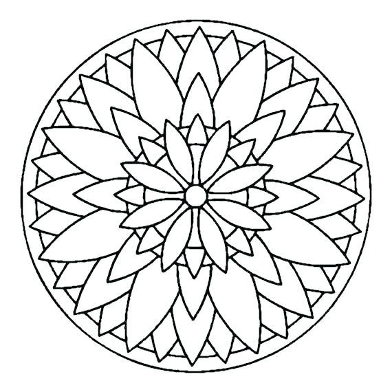 570x570 Simple Mandala Coloring Pages Coloring Pages Of Mandalas Animal