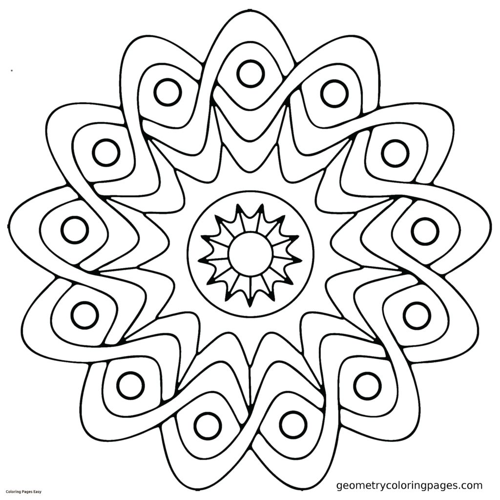 1024x1024 Simple Mandala Coloring Pages Easy Printable Collection Free Books