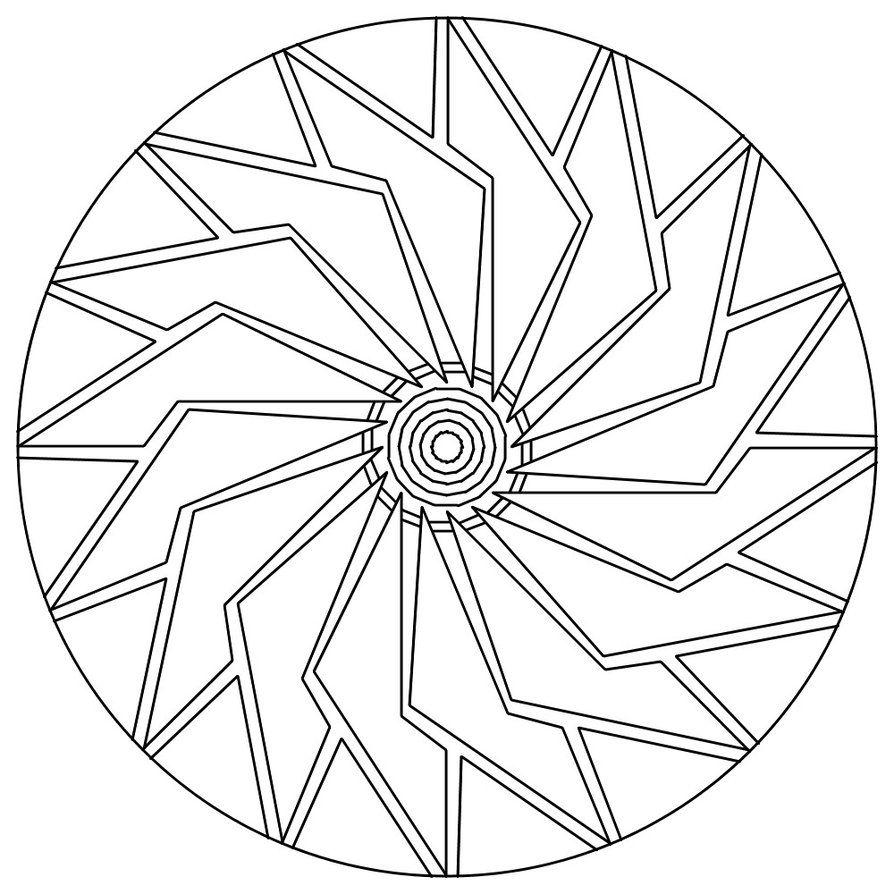 894x894 Simple Mandala Coloring Pages Free Printable