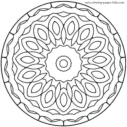 Simple Mandala Coloring Pages Printable at GetDrawings.com | Free ...