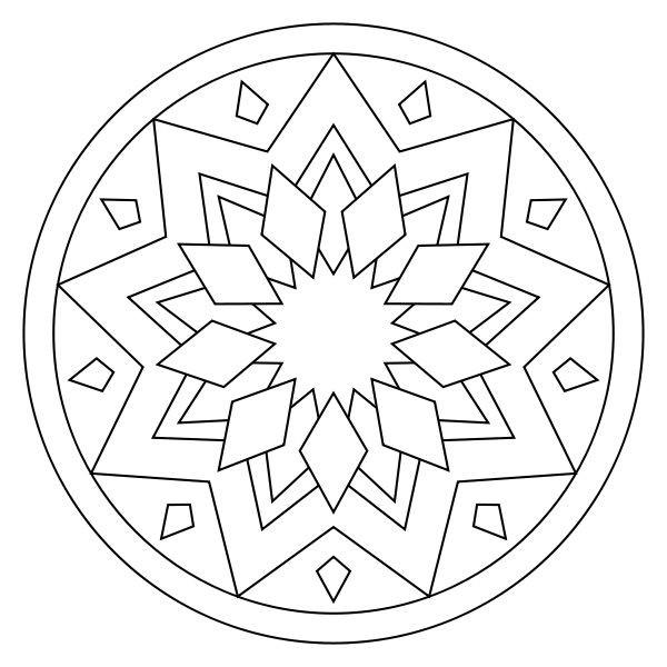 600x600 Simple Mandala Coloring Pages Printable Best Of Best Mandalas