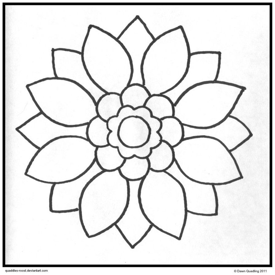 894x894 Simple Mandala Coloring Pages Printable More Like