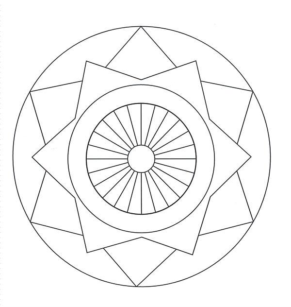 600x632 Simple Mandala Coloring Pages Simple Mandala Coloring Sheets