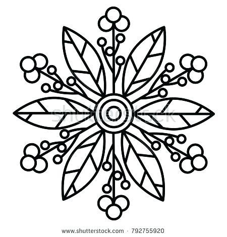 450x470 Simple Mandalas To Print And Color Free Printable Mandala Coloring
