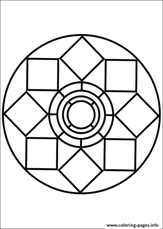 567x794 Easy Simple Mandala Coloring Pages Printable
