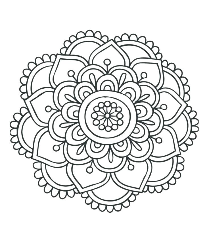 736x849 Flower Mandala Coloring Pages Easy Mandala Coloring Pages
