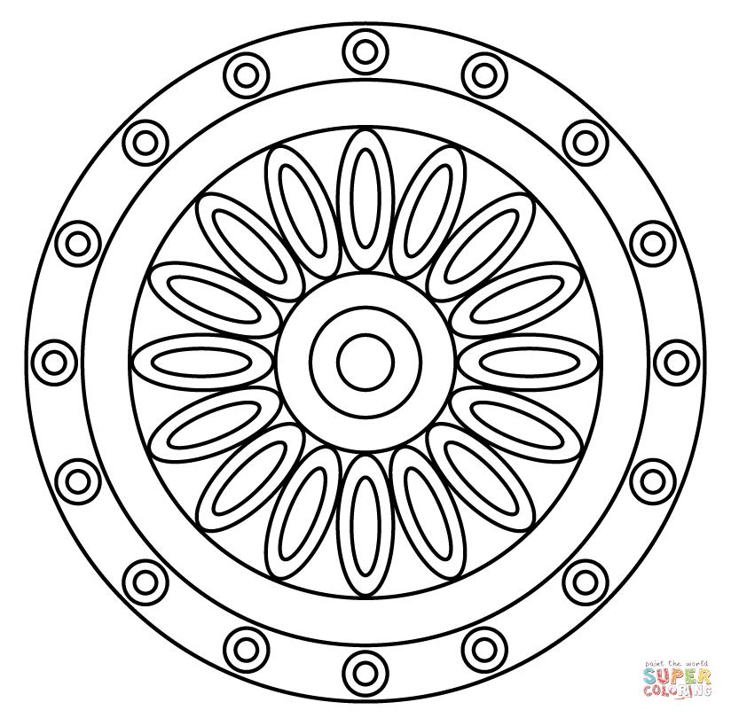 824x810 Flower Of Life Mandala Coloring Page Free Printable Coloring