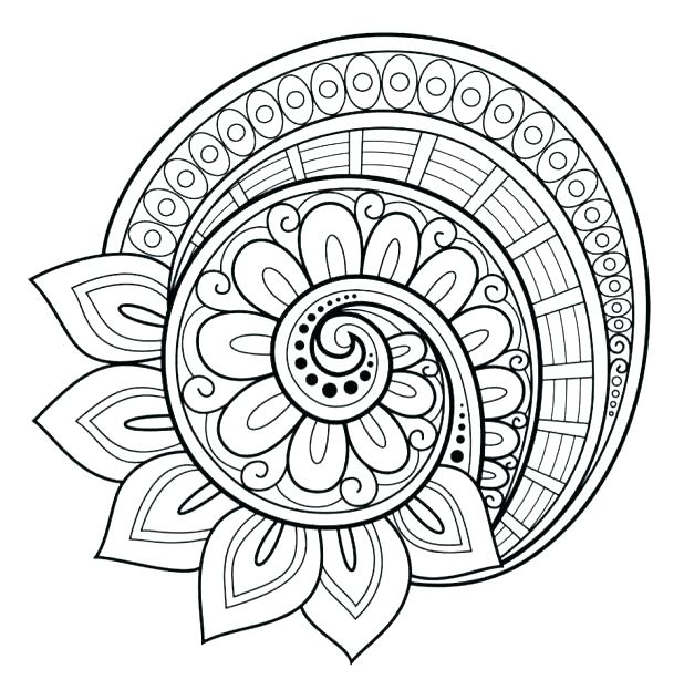 618x632 Hard Flower Coloring Pages Flower Mandala Coloring Pages Flower