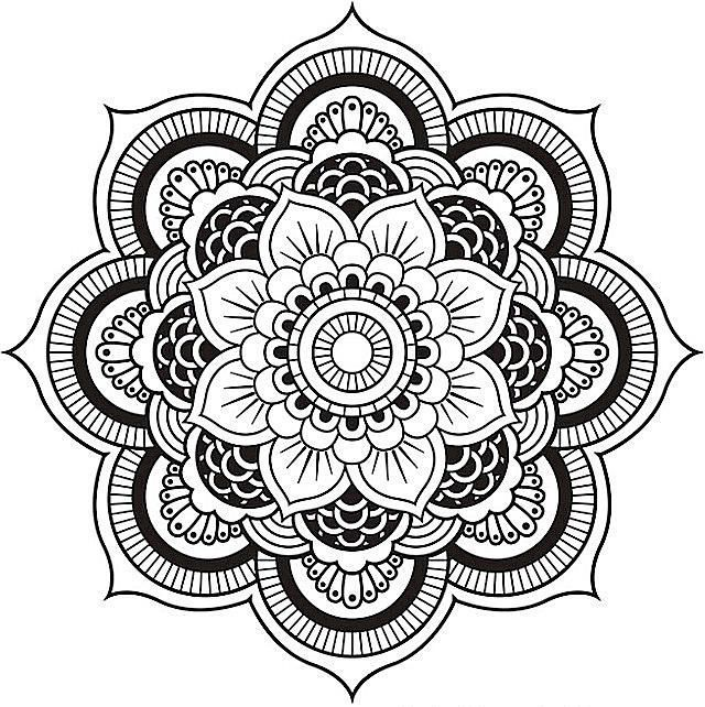 640x642 Free Mandala Coloring Pages For Adults Within Simple Mandala