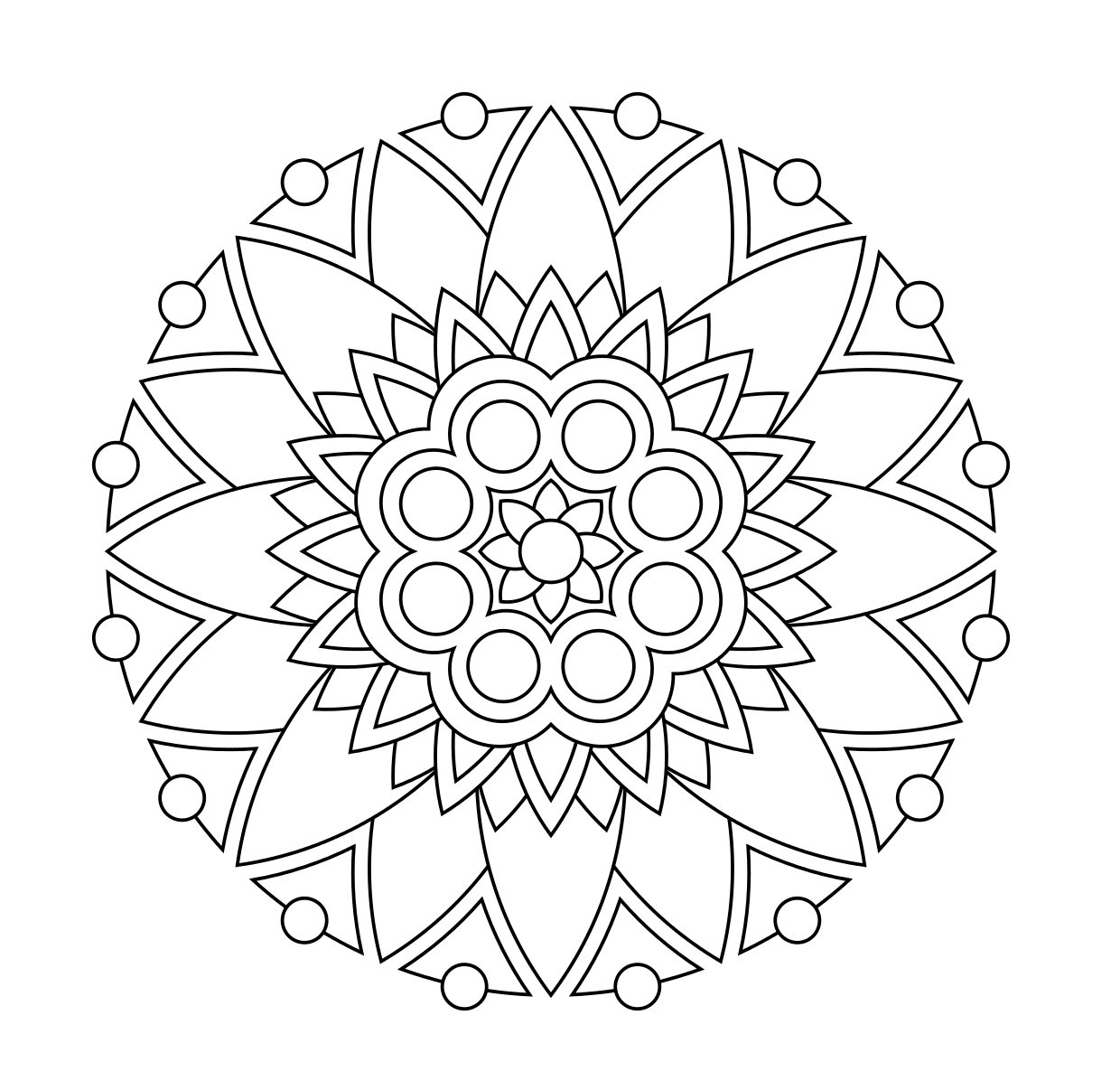 1240x1196 New Coloring Pages Simple Mandala For Pdf Auto Market Free