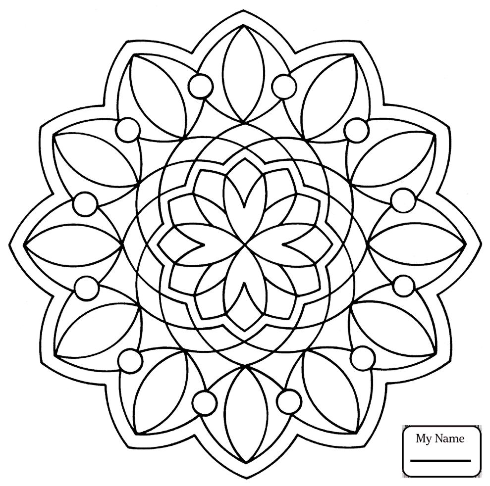 989x982 Printable Arts Culture Easy Mandala With Stars Simple Mandalas
