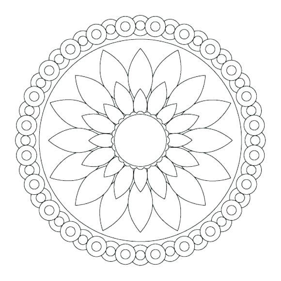 Simple Mandala Flower Coloring Pages at GetDrawings.com ...