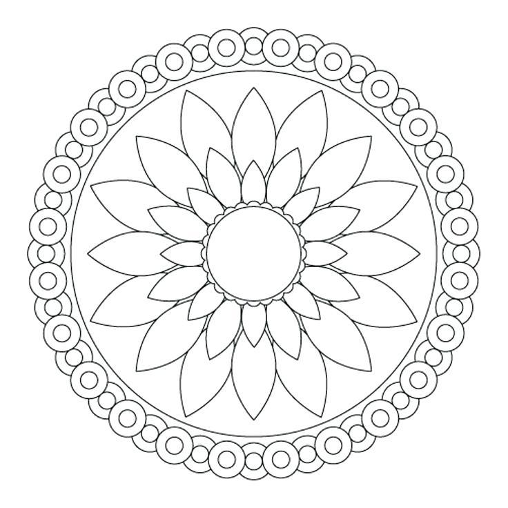 736x736 Simple Mandala Coloring Pages Pdf Kids Coloring Simple Mandala