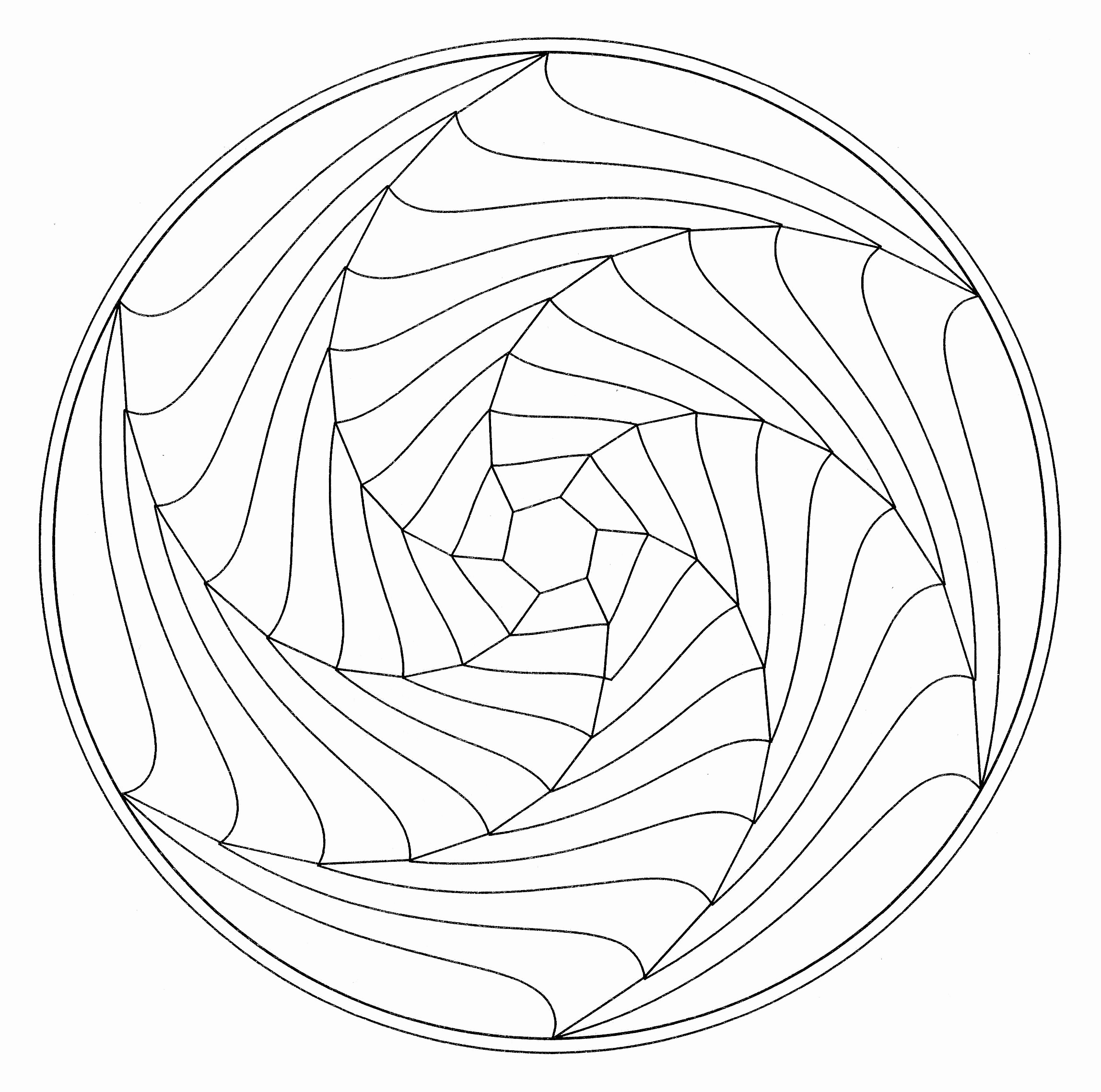 2296x2277 Simple Mandala Flower Coloring Pages