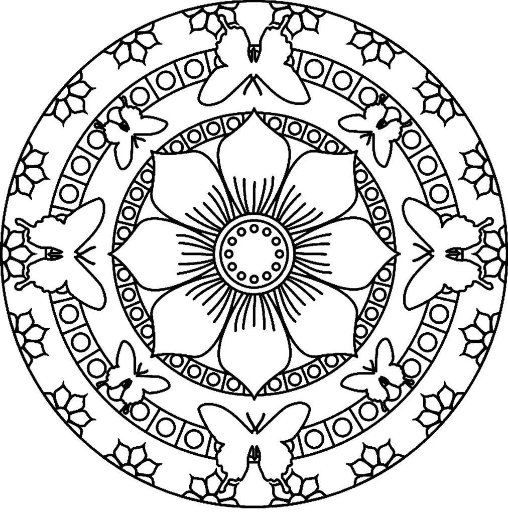 Simple Mandala Flower Coloring Pages at GetDrawings com
