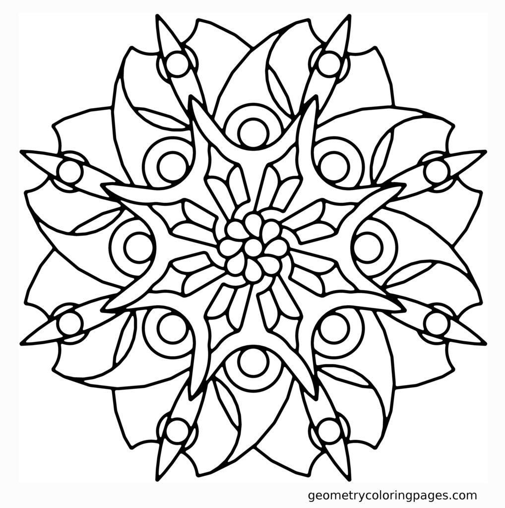 1018x1024 Simple Mandala Flower Coloring Pages To Color Easy Children