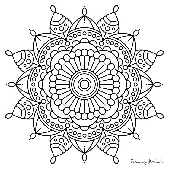 560x560 Simple Mandalas To Print And Color Intricate Coloring Page