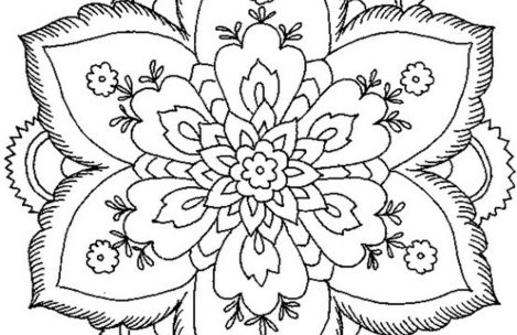 469x304 Simple Mandala Flower Coloring Pages Just Colorings