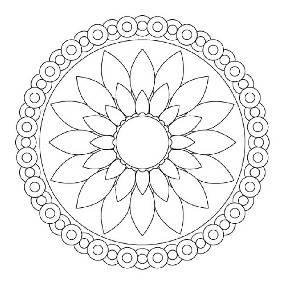945x945 Download Simple Flower Mandala Coloring Pages Or Print Simple
