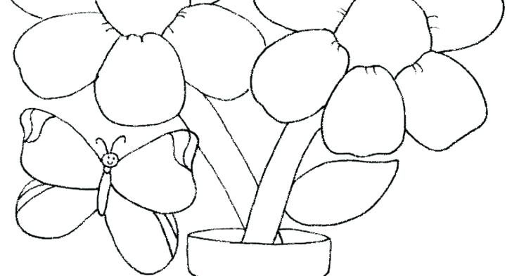 728x393 Easy Flower Coloring Pages Easy Flower Coloring Pages Easy Flower