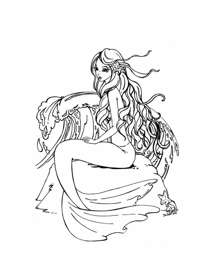 736x891 Mermaid Coloring Pages For Adults Endearing Best Mermaid