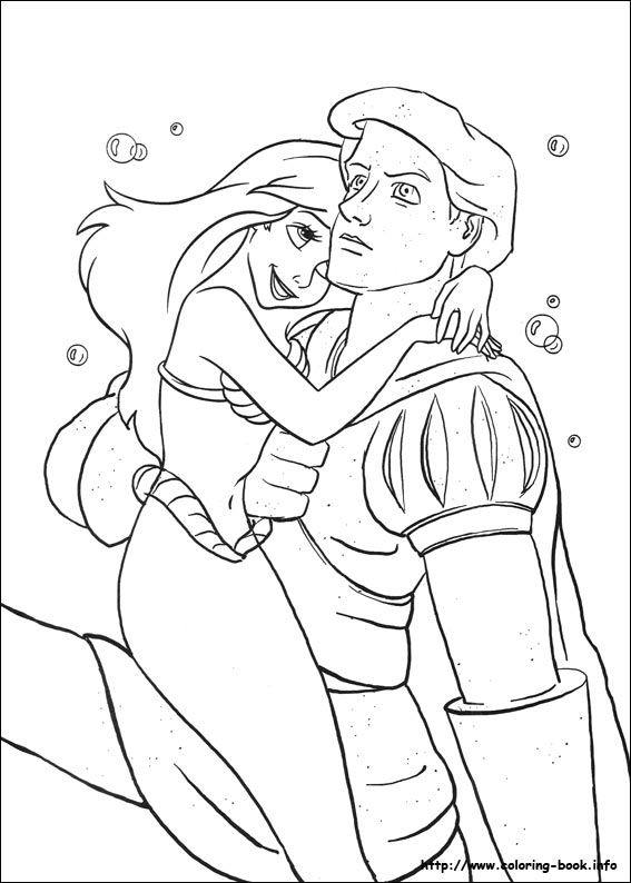 567x794 The Little Mermaid Coloring Pages On Coloring