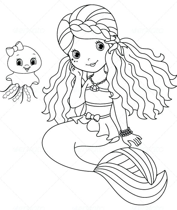 590x700 Coloring Pages Mermaid Coloring Pages