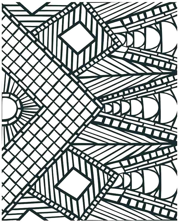600x747 Geometric Patterns Coloring Pages Geometric Color Pages Geometric