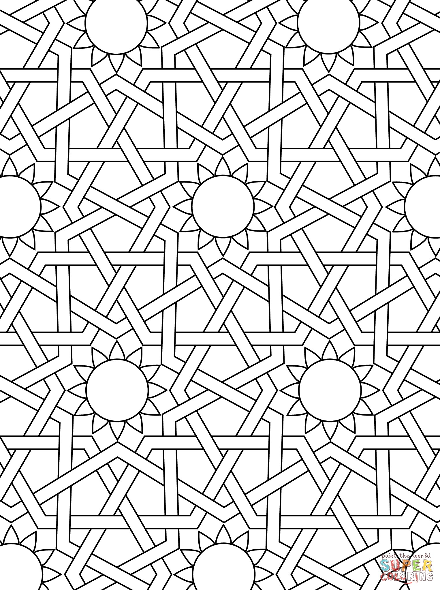 1526x2046 Simple Geometric Pattern Coloring Pages Unique Islamic Ornament