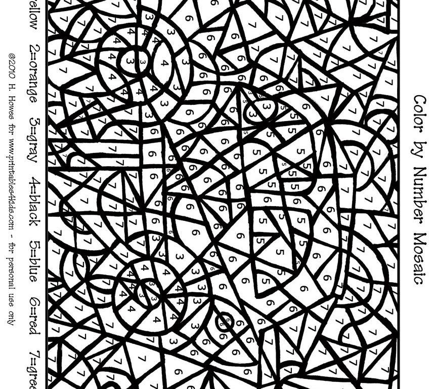 860x768 Circles Ornament Arts Culture Mosaic Coloring Pages