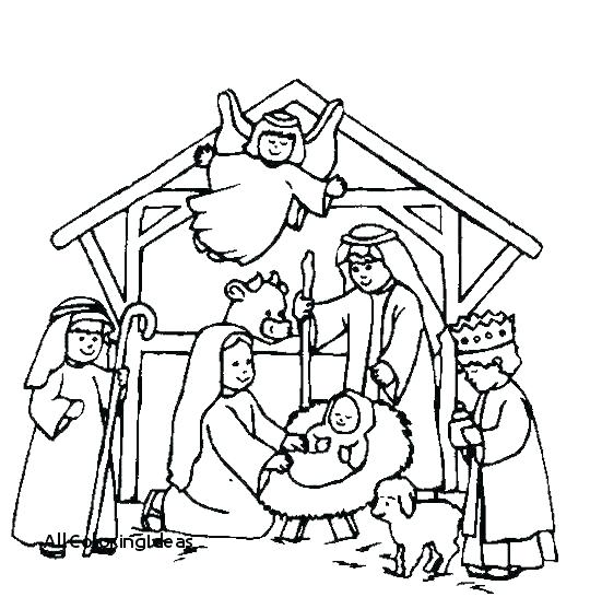 540x546 Nativity Coloring Book Nativity Coloring Book Printable Nativity
