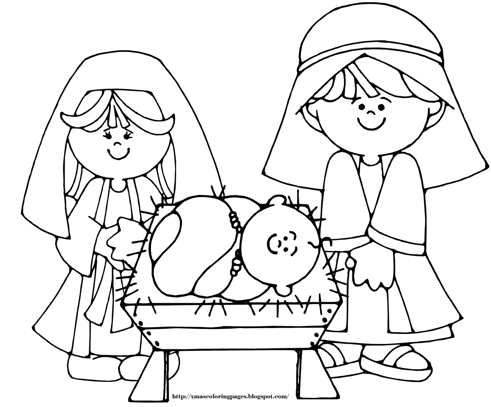 1600x1325 Nativity Coloring Pages