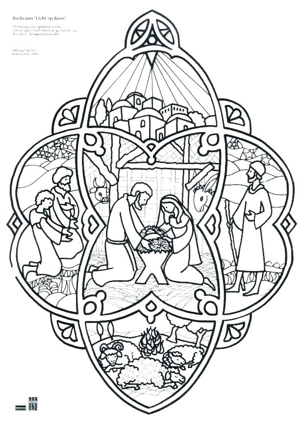 618x874 Nativity Scene Coloring Pages Also Nativity Color Page Great