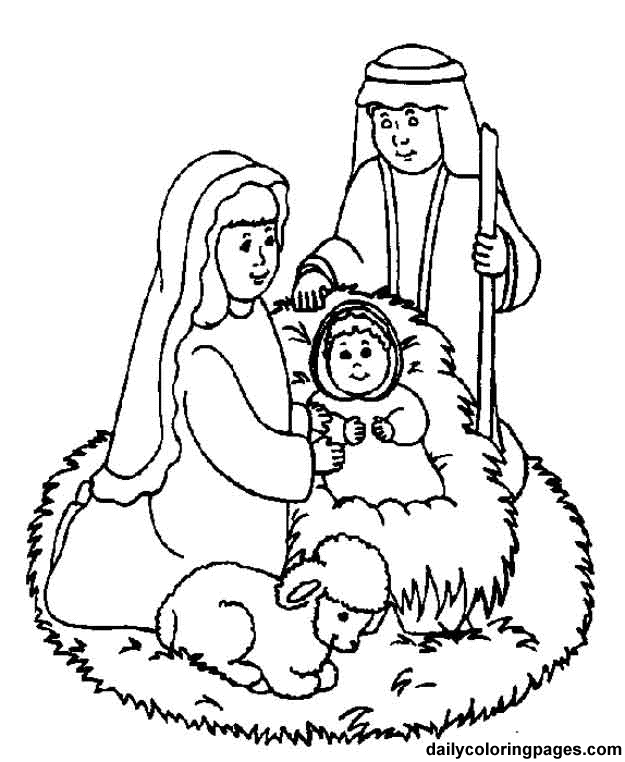 625x762 Simple Nativity Coloring Merry Christmas Happy New Year Arts