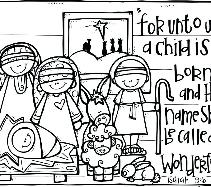 678x600 Coloring Pages Nativity Advent Coloring Page Nativity Fast Advent