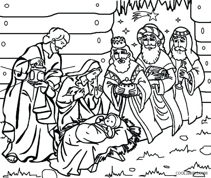 700x591 Manger Scene Coloring Page Nativity Coloring Pages For Kids