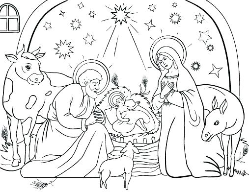 507x392 Nativity Color Page Nativity Coloring Page Nativity Coloring Pages