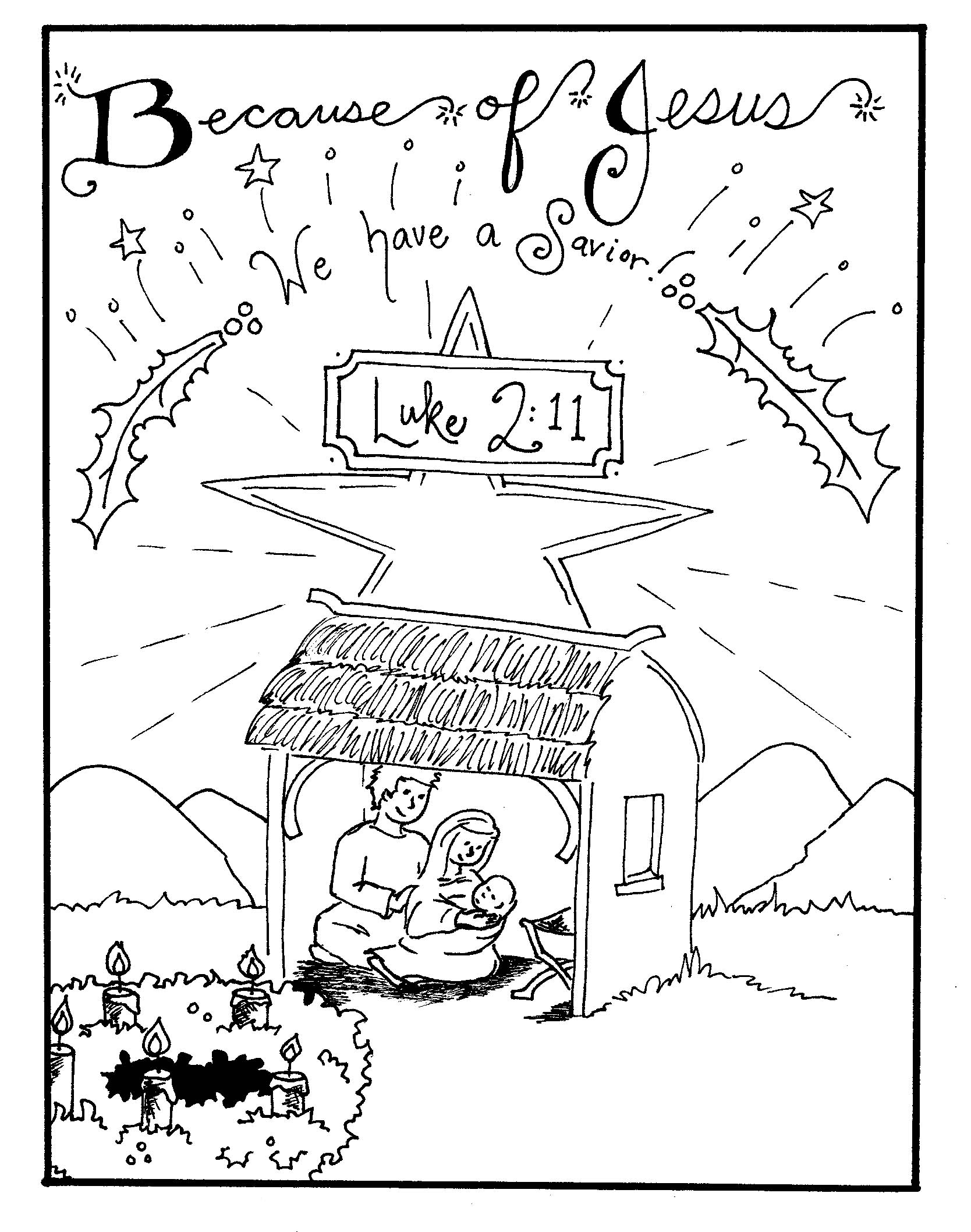 1668x2116 Revealing Nativity Scene Coloring Pages Free P