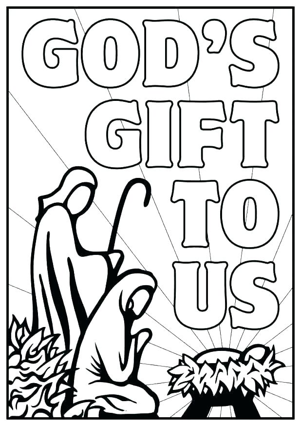 618x874 Manger Scene Coloring Page